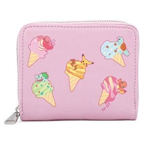 Loungefly Pokemon Ice Crean Denim Zip Around Wallet