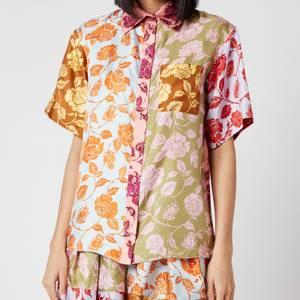 Zimmermann Women's The Lovestruck Spliced Shirt - Mixed Roses