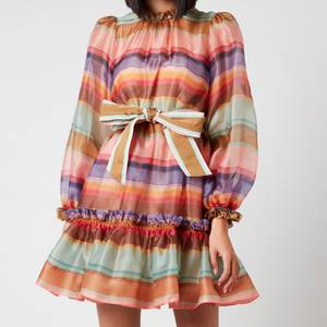 Zimmermann Women's The Lovestruck Rainbow Mini - Rainbow Stripe