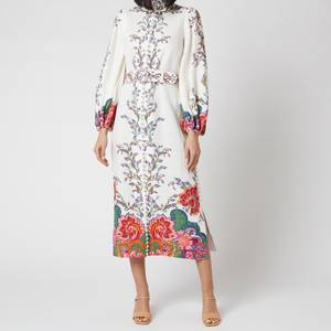 Zimmermann Women's The Lovestruck Buttoned Midi Dress - Natural Paisley Floral