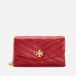 Tory Burch Women's Kira Chevron Chain Wallet - Redstone