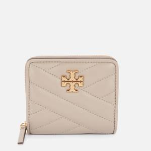 Tory Burch Women's Kira Chevron Bi-Fold Wallet - Gray Heron