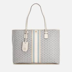 Tory Burch Women's Gemini Link Canvas Top Zip Tote Bag - New Ivory