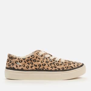 TOMS Women's Alex Vegan Low Top Trainers - Natural Textured Cheetah
