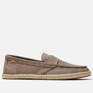TOMS Men's Stanford Rope Suede Loafers - Desert Taupe