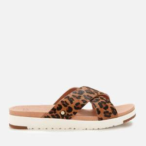 UGG Women's Kari Leopard Slide Sandals - Tan