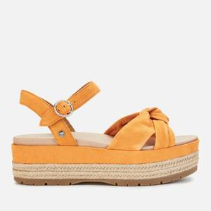 UGG Women's Trisha Suede Flatform Sandals - California Poppy