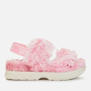 UGG Women's Fluff Sugar Sustainable Sandals - Pink