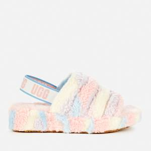 UGG Women's Fluff Yeah Pride Collection Slippers - Pride Stripes