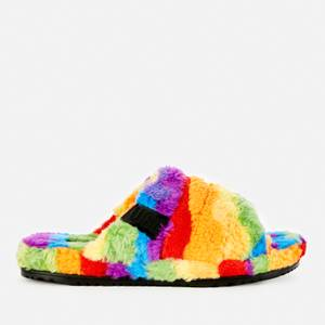 UGG Men's Fluff You Pride Collection Slippers - Pride Rainbow