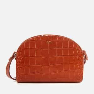 A.P.C. Women's Mini Demi Lune Croc Bag - Brown