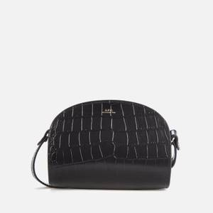 A.P.C. Women's Mini Demi Lune Croc Bag - Black