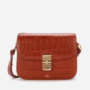 A.P.C. Women's Grace Croc Small Bag - Brown