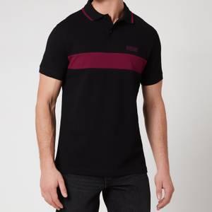Barbour International Men's Box Stripe Polo Shirt - Black