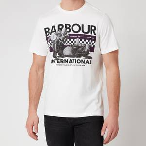 Barbour International Men's Racer T-Shirt - Whisper White