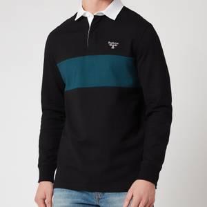 Barbour Beacon Men's Denton Long Sleeve Polo Shirt - Black