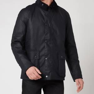 Barbour Tartan Men's Horto Wax Jacket - Navy