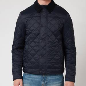 Barbour Tartan Men's Lemal Quilted Jacket - Navy