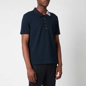 Thom Browne Men's Four-Bar Collar Polo Shirt - Navy