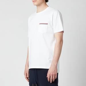 Thom Browne Men's Tricolour Pocket T-Shirt - White