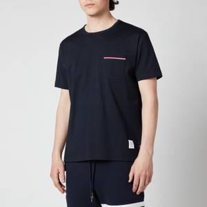 Thom Browne Men's Tricolour Pocket T-Shirt - Navy