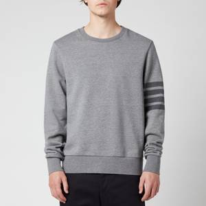 Thom Browne Men's Tonal 4-Bar Relaxed Sweatshirt - Med Grey