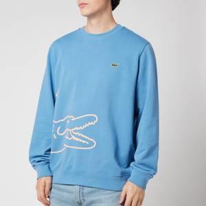 Lacoste Men's Wrap Around Crocodile Logo Sweatshirt - Turquin Blue