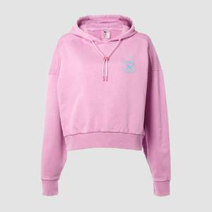 MP X Zack George Women's Washed Crop Hoodie - Pink Lavender