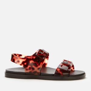 Melissa Women's Wide Double Strap Sandals - Tortoiseshell