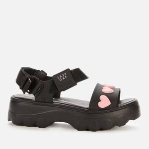 Melissa X Lazy Oaf Women's Kick Off Sandals - Black Heart