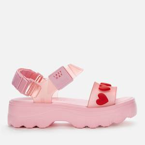 Melissa X Lazy Oaf Women's Kick Off Sandals - Pink Heart