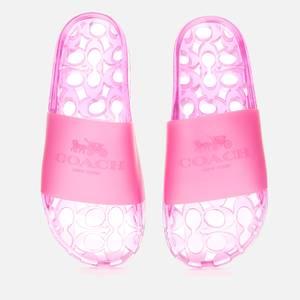 Coach Women's Ulyssa Rubber Slide Sandals - Bold Pink