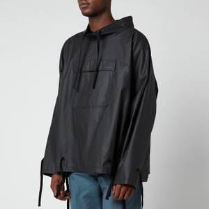 Maison Margiela Men's Coated Ramie Pop Over Jacket - Black