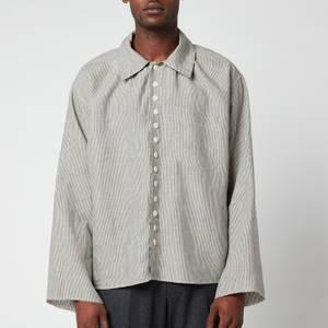 Maison Margiela Men's Linen Chambray Stripe Shirt - Vintage Stripes