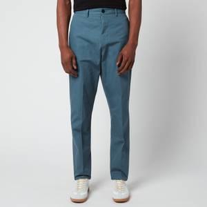Maison Margiela Men's Cotton Canvas Trousers - Steel Blue