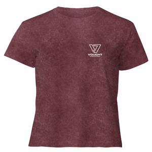The Boys Queen Maeve Crop Top Femme - Bordeaux Délavé