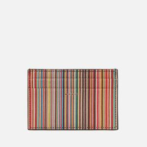 PS Paul Smith Men's Multi Stripe Credit Card Case - Black