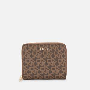 DKNY Women's Bryant Small Logo Zip Around Wallet - Mocha/Caramel