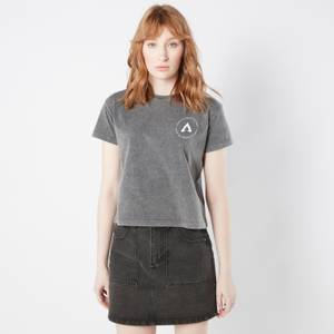 Apex Legends Change The Game Women's Cropped T-Shirt - Black Acid Wash