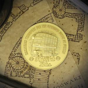 Harry Potter 24k Gold Plated Knight Bus Limited Edition Medallion - Zavvi Exclusive by DUST!