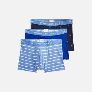 Polo Ralph Lauren Men's Classic 3-Pack Trunks - Sapphire Star/Blue Stripe/Navy AOPP