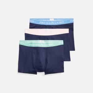 Polo Ralph Lauren Men's Classic 3-Pack Trunks - Navy Blue/Navy Pink/Navy Green
