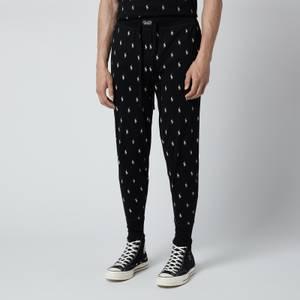 Polo Ralph Lauren Men's Liquid Cotton Printed Slim Jogger Pants - Polo Black