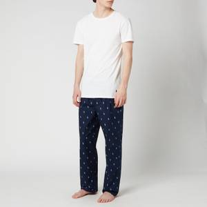 Polo Ralph Lauren Men's Cotton Pyjama Pants - Cruise Navy/Blue Lagoon