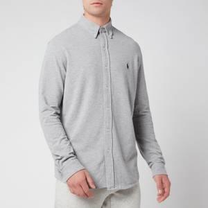 Polo Ralph Lauren Men's Featherweight Mesh Long Sleeve Shirt - Andover Heather