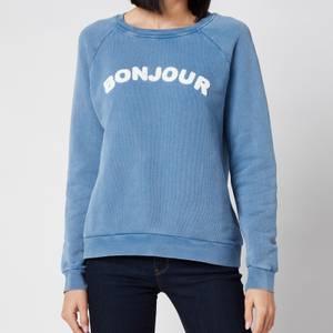 Whistles Women's Bonjour Logo Sweatshirt - Blue