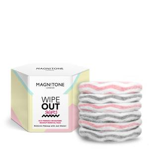 Magnitone London WipeOut Swipes Eco Friendly Cleansing Pads - Pink/Grey (Pack of 6)
