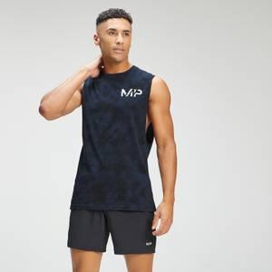 MP Men's Adapt Tie Dye Tank Top | Petrol Blue/Black | MP