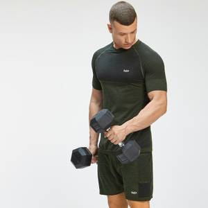MP Men's Essential Seamless Short Sleeve T-Shirt - Vine Leaf Marl