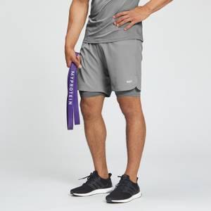 Moške športne kratke hlače Essentials Training 2 v 1 – Storm sive